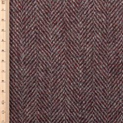 close up of redwood herringbone tweed
