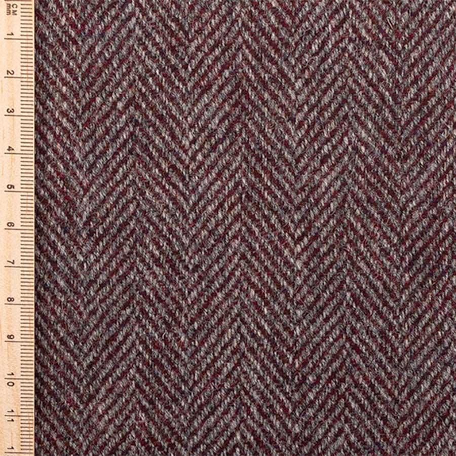 close up of redwood herringbone tweed