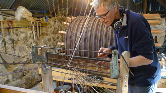 skye weavers roger warping random throws