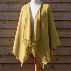 ruana wrap lichen yellow