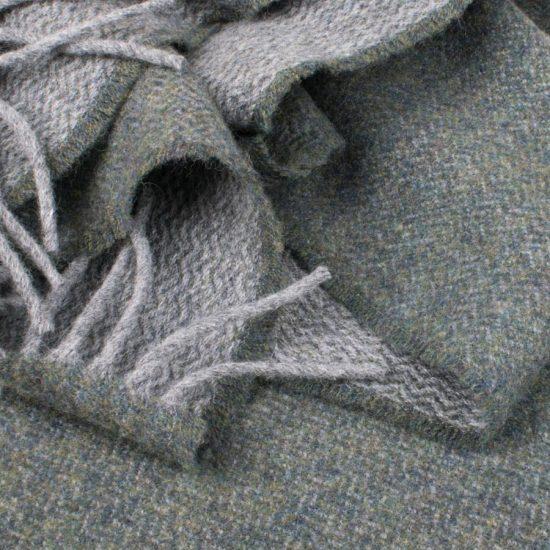 scarf grey and fern