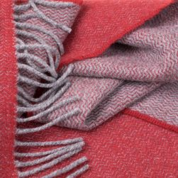 scarf grey and raspberry