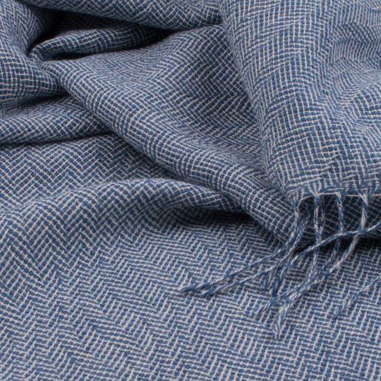 shadow leaf shawl blue