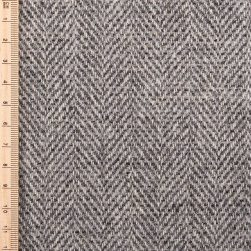 Close up of silver birch herringbone tweed