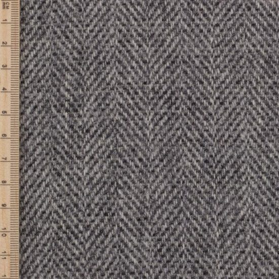 Skye Weavers Silver Birch Herringbone Tweed