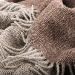 skye wool throw grey and peat