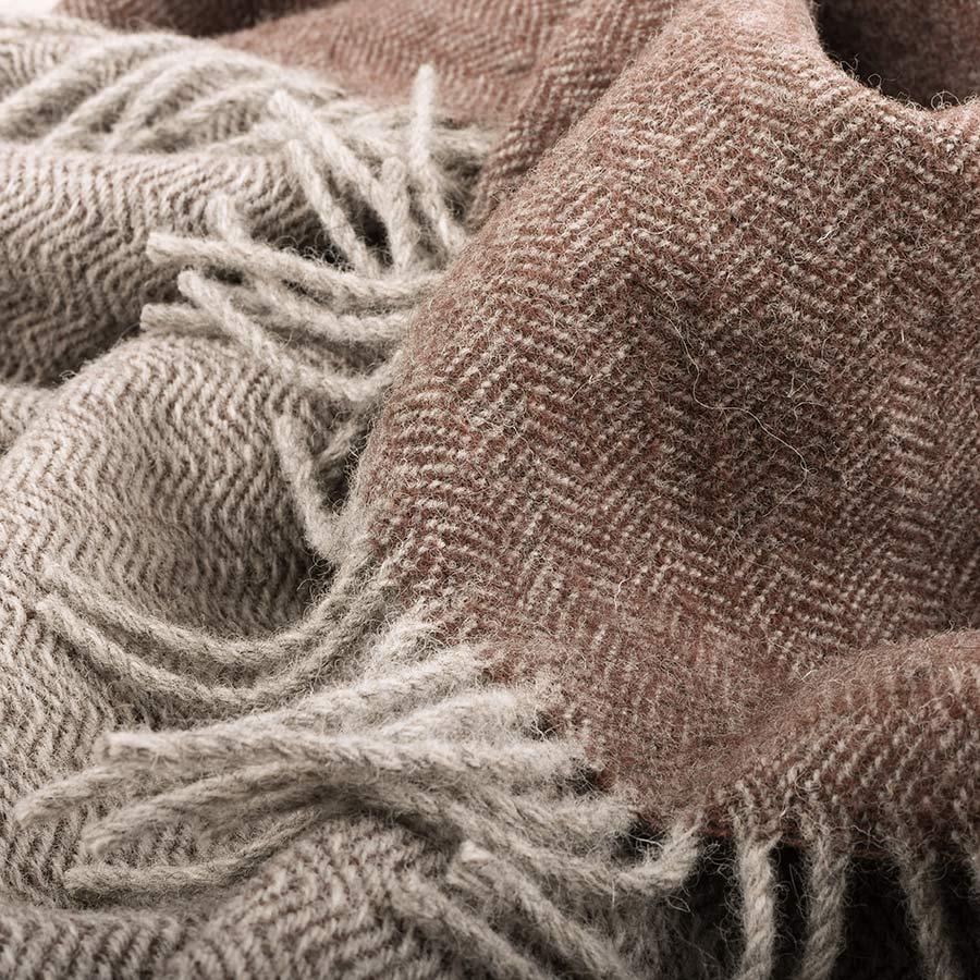 skye wool throw grey and peat