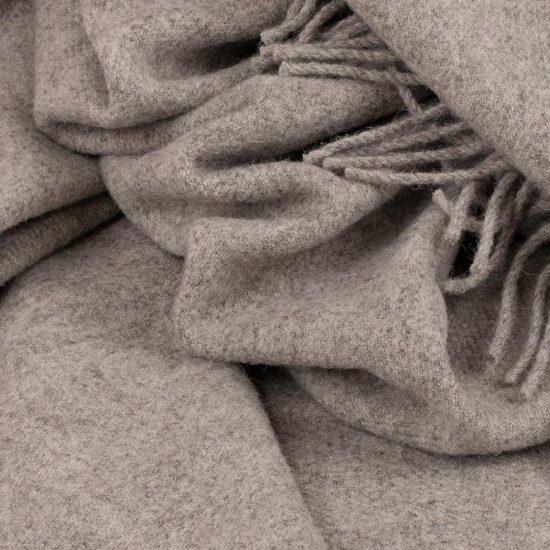 skye wool throw grey