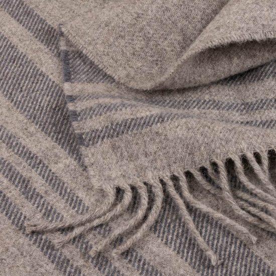 skye wool throw grey stripes