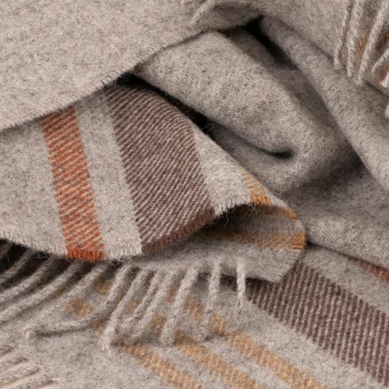 skye wool throw lichen stripes