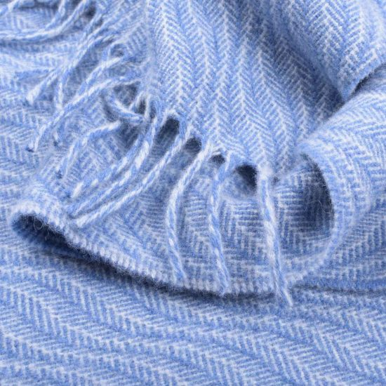 soft wave scarf blue sea