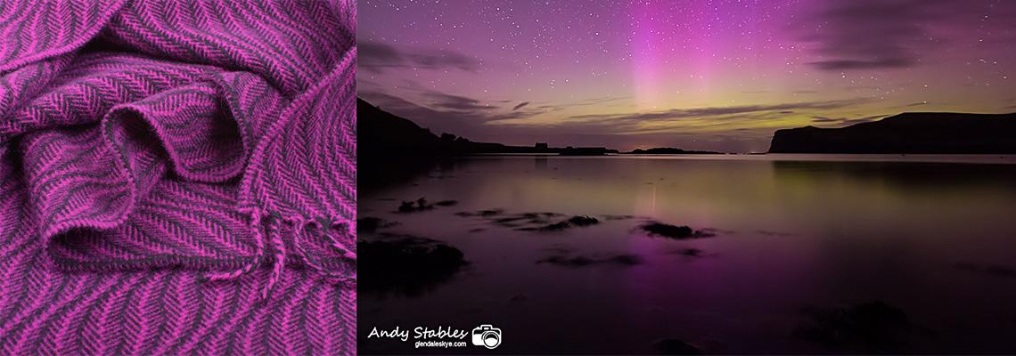 skye weavers soft waves scarf inspiration aurora