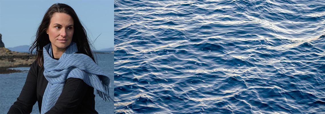 skye weavers soft waves scarf inspiration blue sea