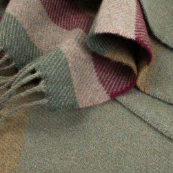 striped scarf moss