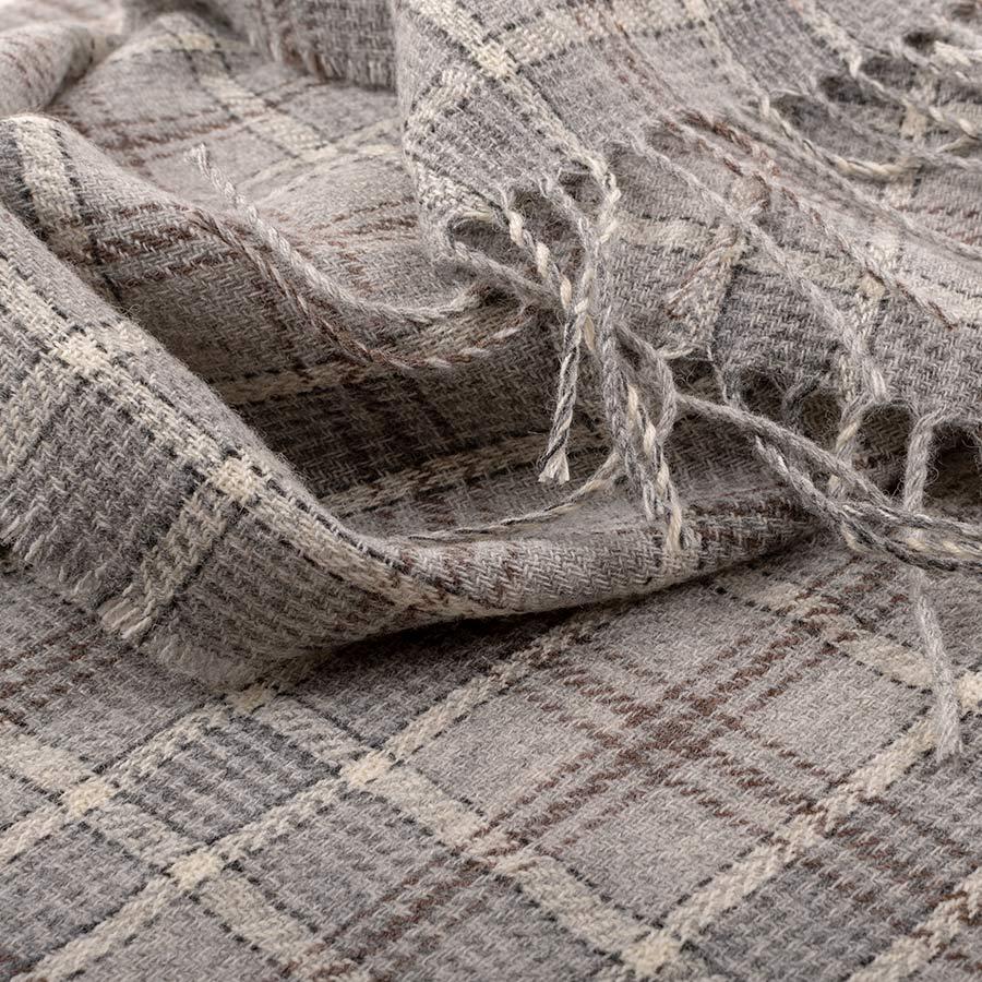 tartan wrap grey lichen