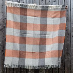 short throw grey and burnt orange
