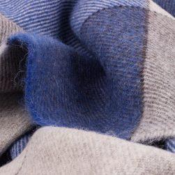 Skye Weavers Throw, Grey and Indigo Blue