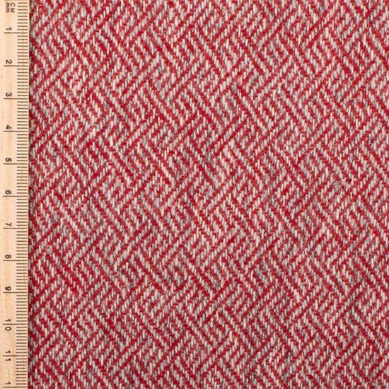plaited twill red