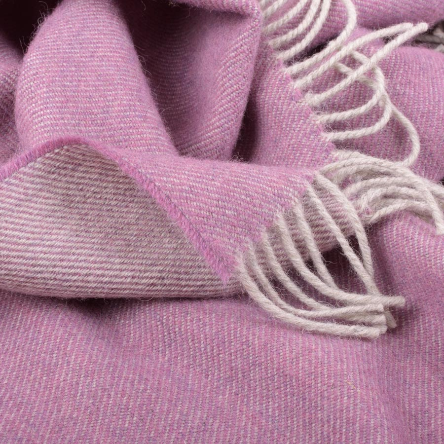 detail of purple coloured throw