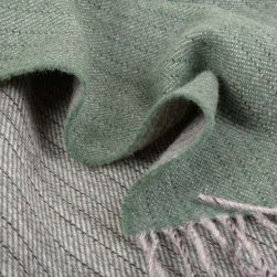 Detail of green woven fabric