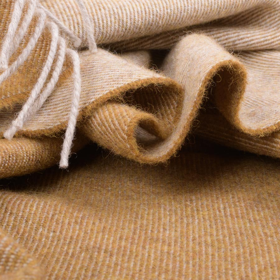 detail of two-tone throw straw