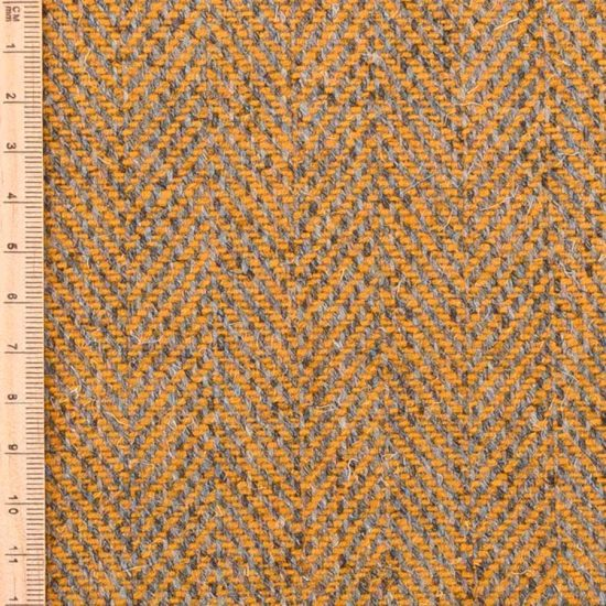 yellow herringbone tweed
