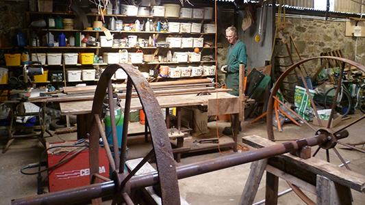 Skyeweavers Glendale - warp wheel
