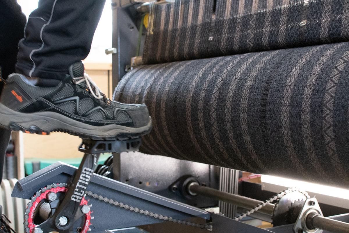pedal powered loom
