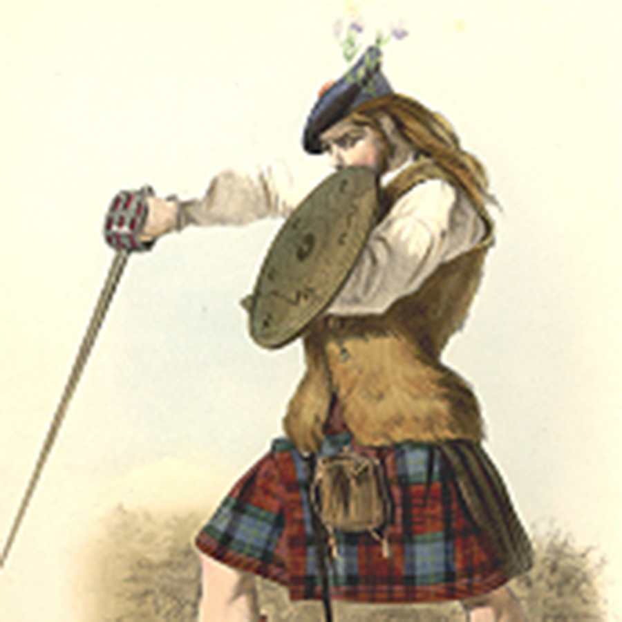MacLachlan tartan painted by Robert Ronald McIan, 19th c.