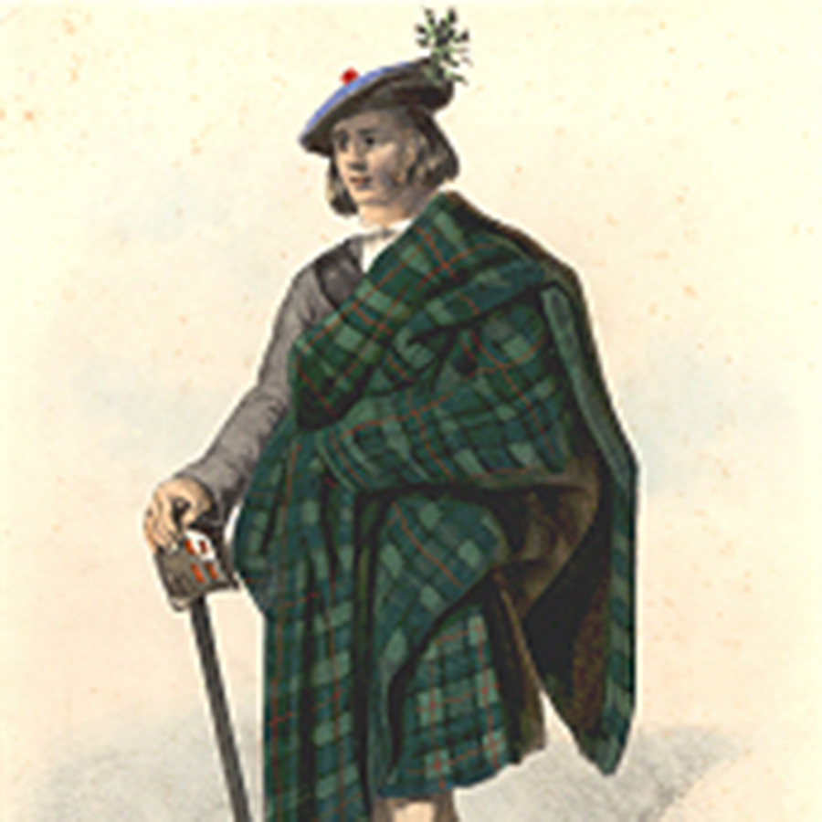 MacLeod tartan painted by Robert Ronald McIan, 19th c.