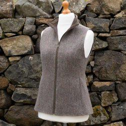 tweed gilet